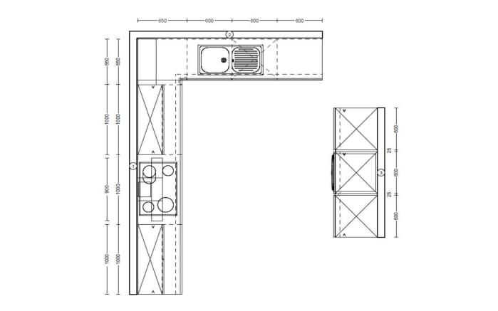 Einbauküche Flash in alpinweiß Hochglanz, Siemens-Geschirrspüler SN614X00AE
