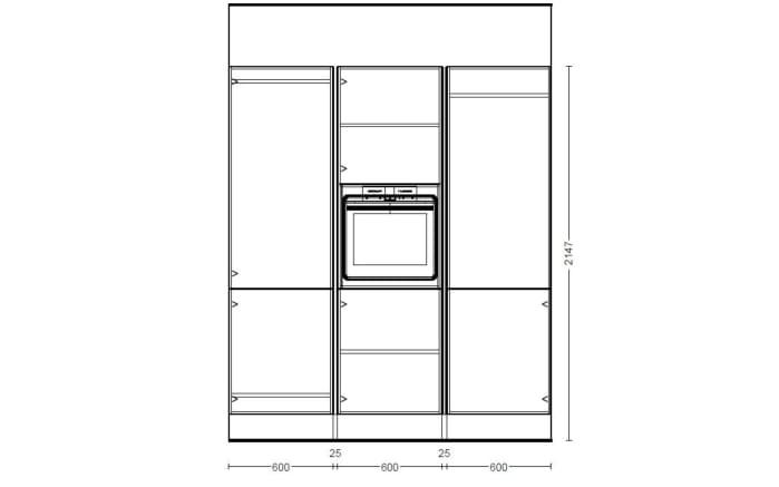 Einbauküche Flash in alpinweiß Hochglanz, Leonard Geschirrspüler PV1526