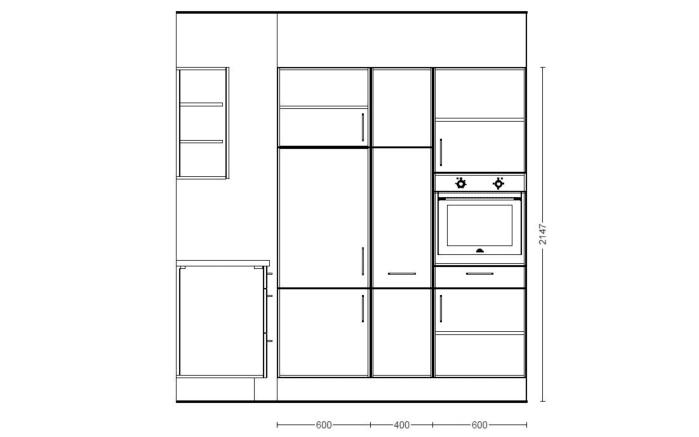 Einbauküche Structura in Eiche Havanna-Optik, Siemens-Geschirrspüler