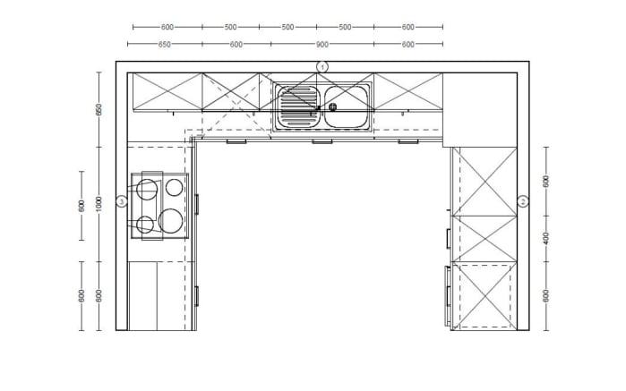 Einbauküche Structura in Eiche Havanna-Optik