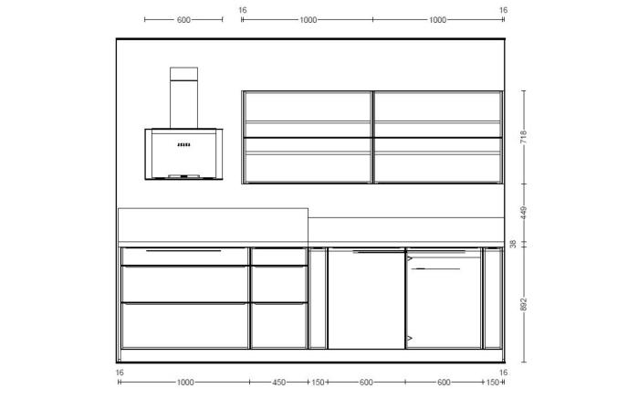 Einbauküche Inox in Stahl gebürstet, Neff Induktionskochfeld