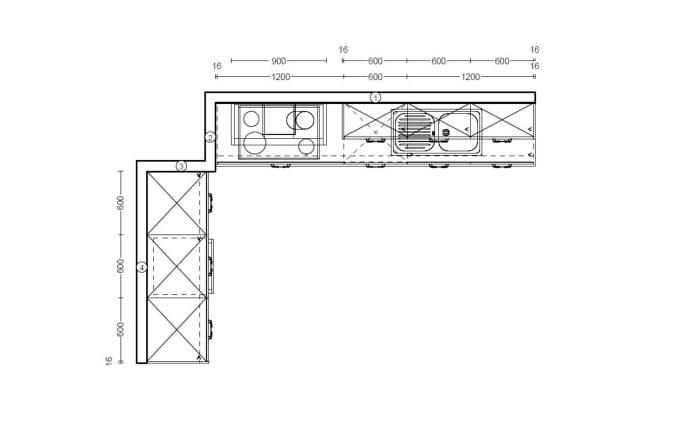 Einbauküche Cemento in zementgrau, Progress Geschirrspüler PV1546