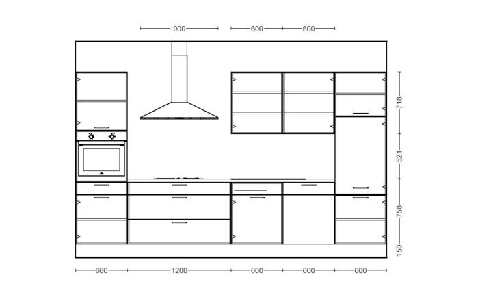 Einbauküche Flash in schiefergrau, AEG Geschirrspüler FSB31600Z
