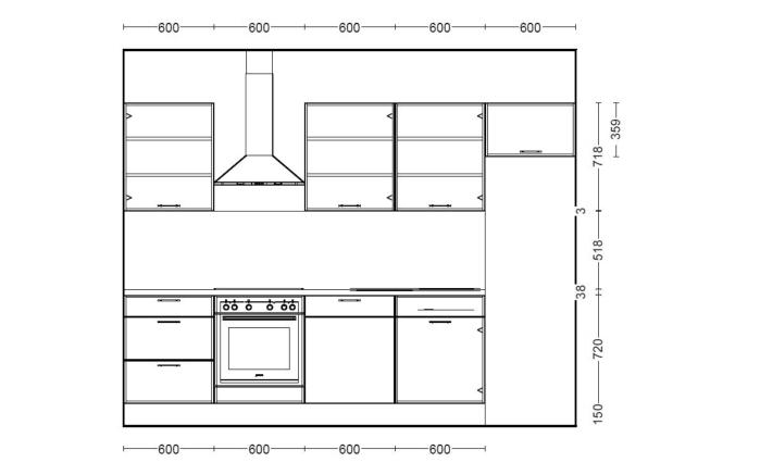 Einbauküche Speed in seidengrau, Junker Geschirrspüler JS03VN90
