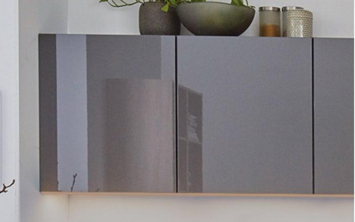 Einbauküche Flash, schiefergrau Hochglanz, inklusive Miele Backofen, inklusive Elektrogeräte-02