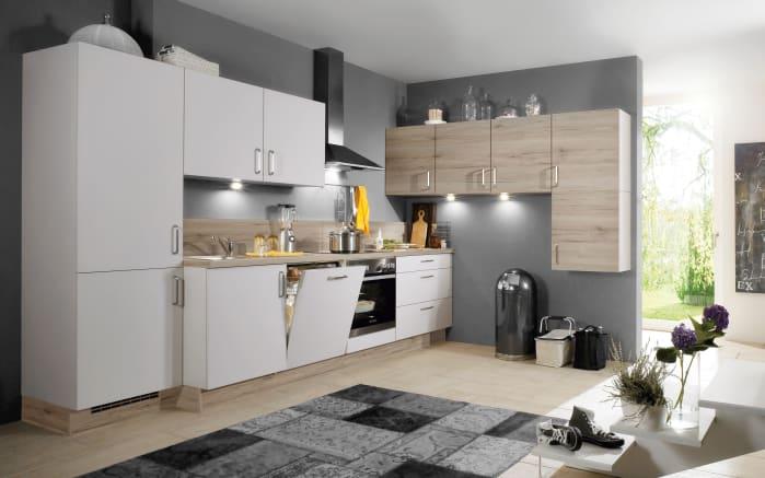 Einbauküche Speed, weiß, inklusive Elektrogeräte-01