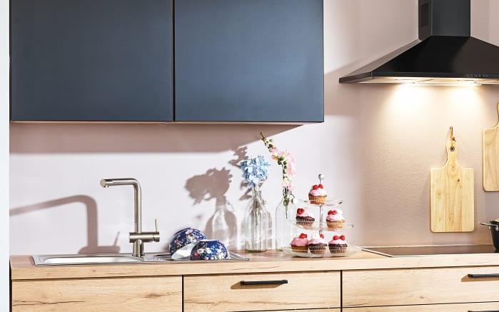 Einbauküche Struktura, Eiche Sierra Nachbildung, inklusive Bauknecht Elektrogeräte -03