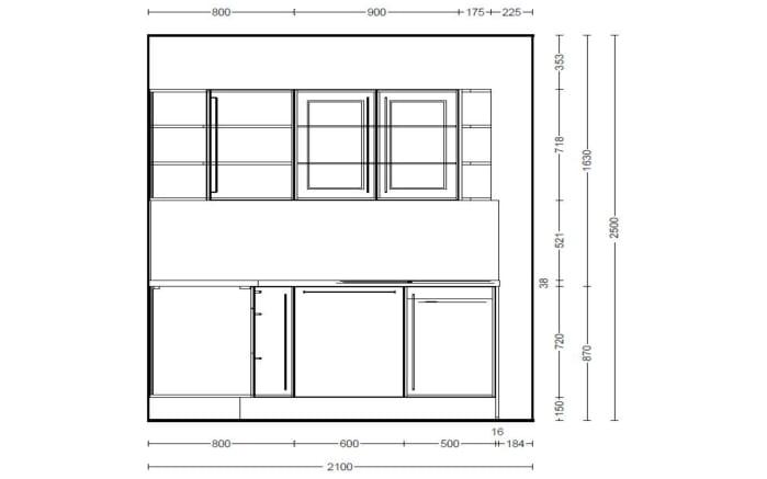 Einbauküche Focus in alpinweiß Hochglanz, Progress-Geschirrspüler PV1545