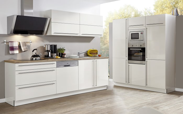 Einbauküche Capri in magnolia, Siemens-Geschirrspüler