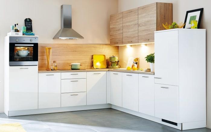 Einbauküche Lux in weiß, Neff Geschirrspüler