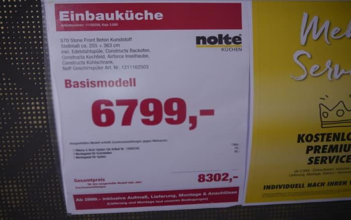 Einbauküche Stone, AUSSTELLUNGSKÜCHE Münster-Senden