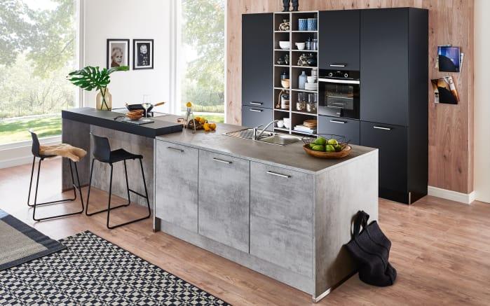 Einbauküche Nolte Stone in Beton-Optik, Miele-Geschirrspüler