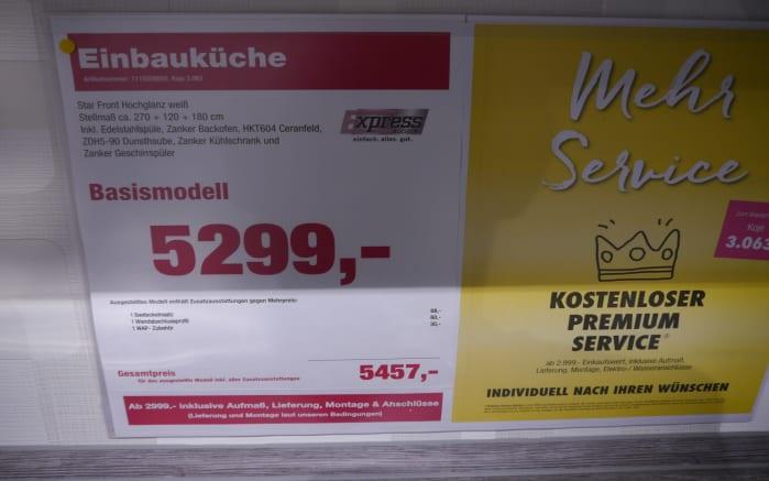 Einbauküche Star, AUSSTELLUNGSKÜCHE Münster-Senden