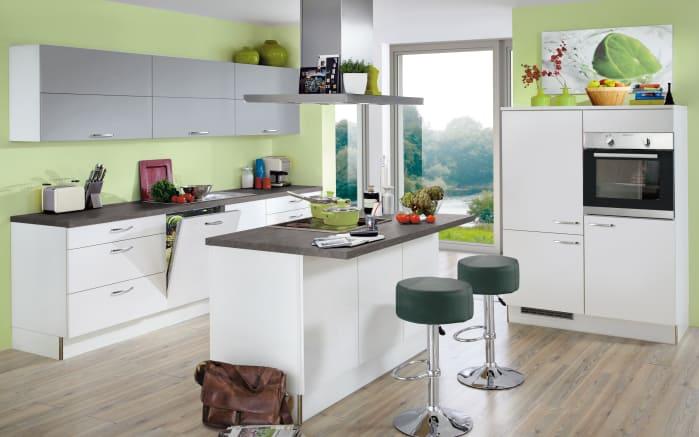 Einbauküche Star weiß Hochglanz, Miele-Geschirrspüler