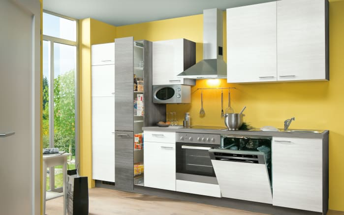 einbauk che plan in eiche wei matt online bei hardeck. Black Bedroom Furniture Sets. Home Design Ideas