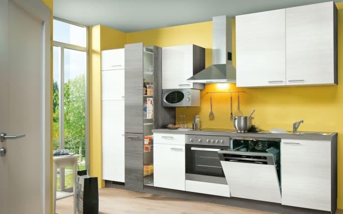 Einbaukuche Plan In Eiche Weiss Matt Siemens Geschirrspuler Online
