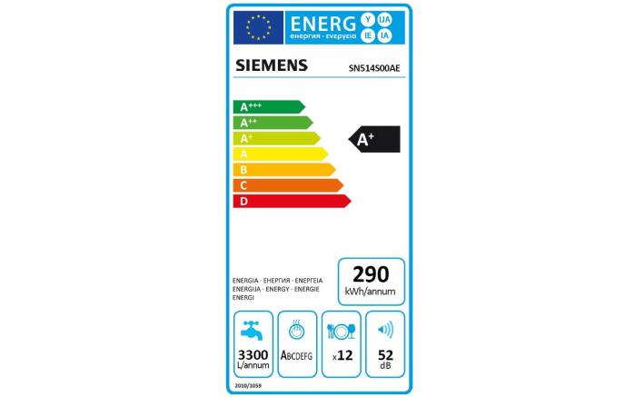 Einbauküche Plan in Eiche weiß matt, Siemens-Geschirrspüler