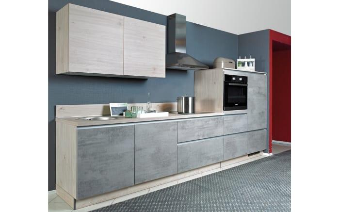 Einbauküche Beton in Beton hell Optik, AEG-Geschirrspüler