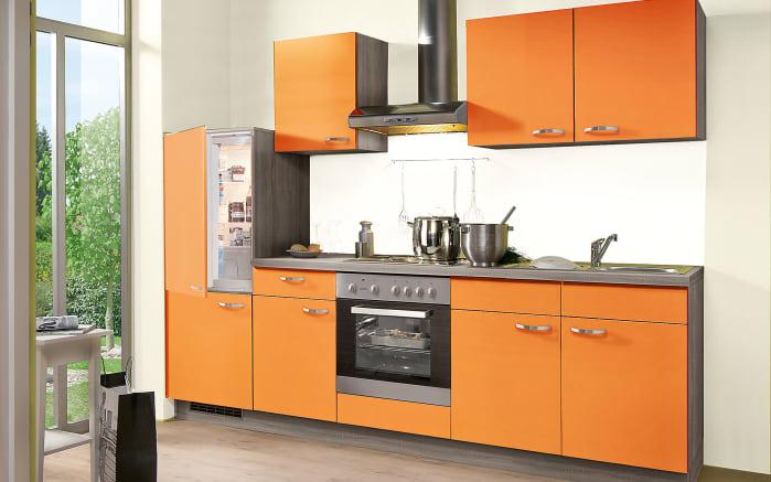 Einbauküche Win in orange