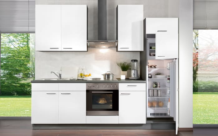 Einbauküche Win in weiß matt/anthrazit