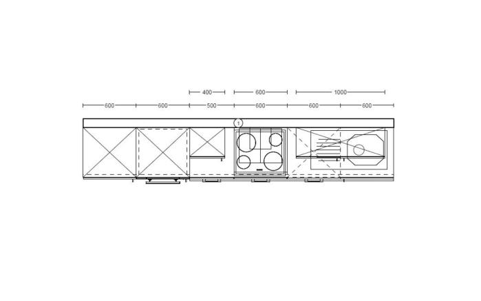Marken-Einbauküche Cristall in weiß, Privileg Geschirrspüler RIE2C19