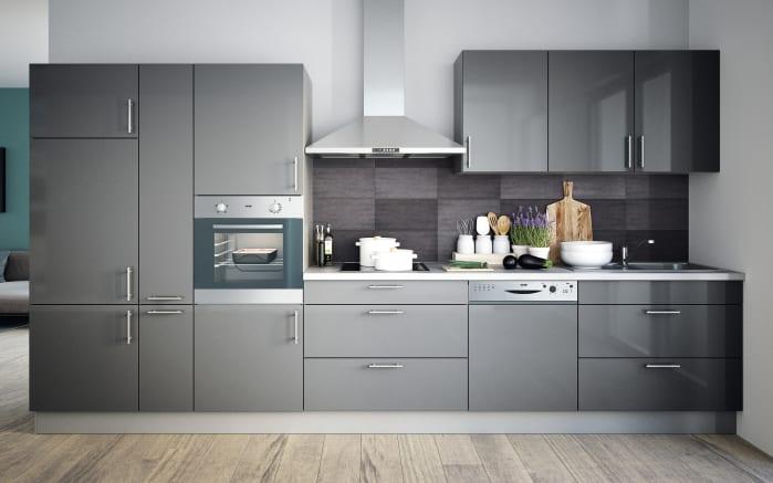 Einbauküche Cristall in grau, Bauknecht Geschirrspüler