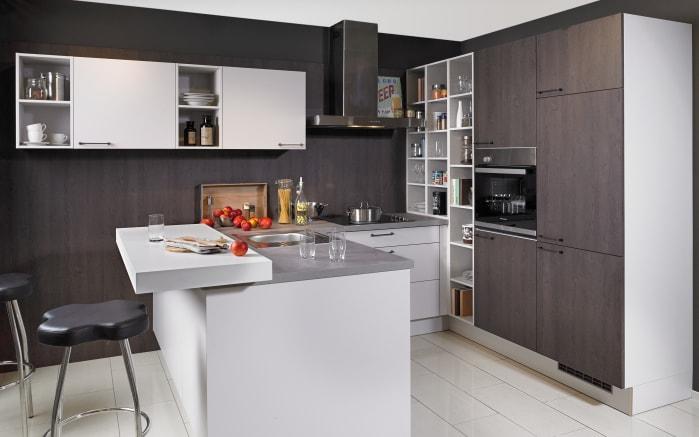 Einbauküche Toronto Eiche-Nougat-Optik, Neff Geschirrspüler