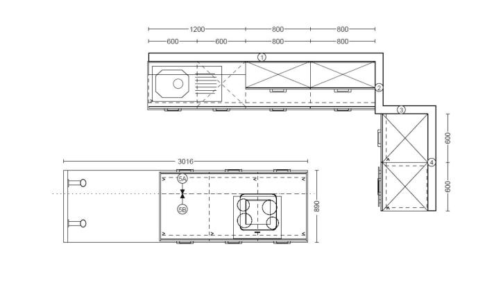 Einbauküche Laser Soft in perlgrau, Siemens-Geschirrspüler