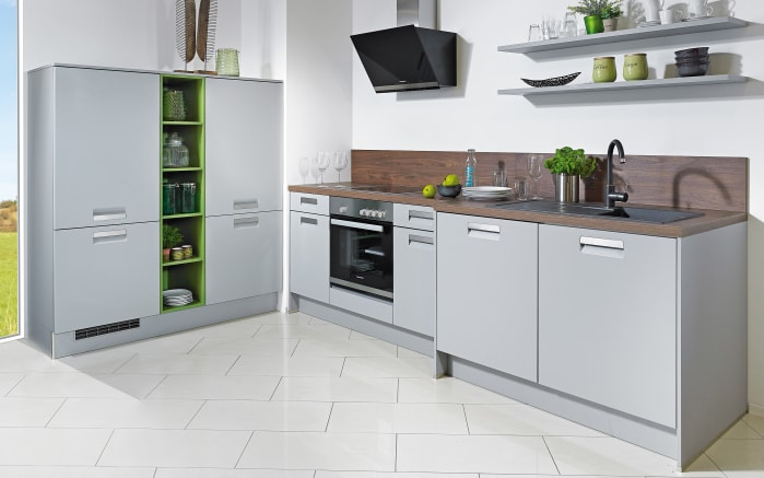 Einbauküche Integrale in perlgrau, Miele-Geschirrspüler
