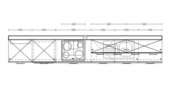 Einbauküche Uno, weiß, inklusive Bauknecht Elektrogeräte -06