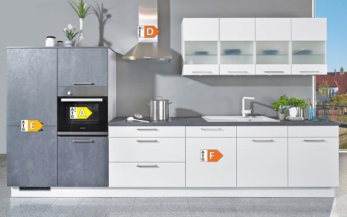 Einbauküche Uno, weiß, inklusive Bauknecht Elektrogeräte -04