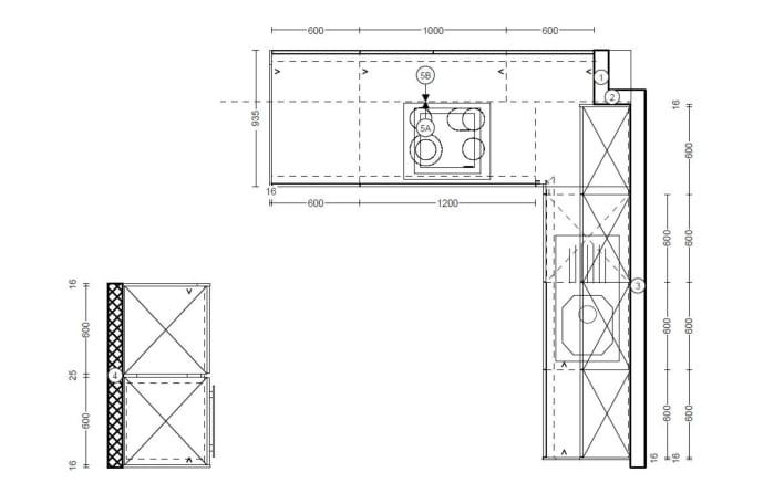 Einbauküche Vancouver in Alteiche natur-Optik, Siemens-Geschirrspüler