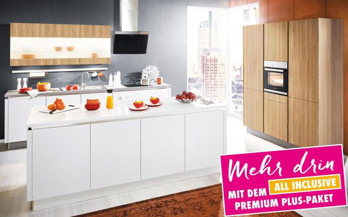 Einbauküche Loft in weiß, Siemens-Geschirrspüler