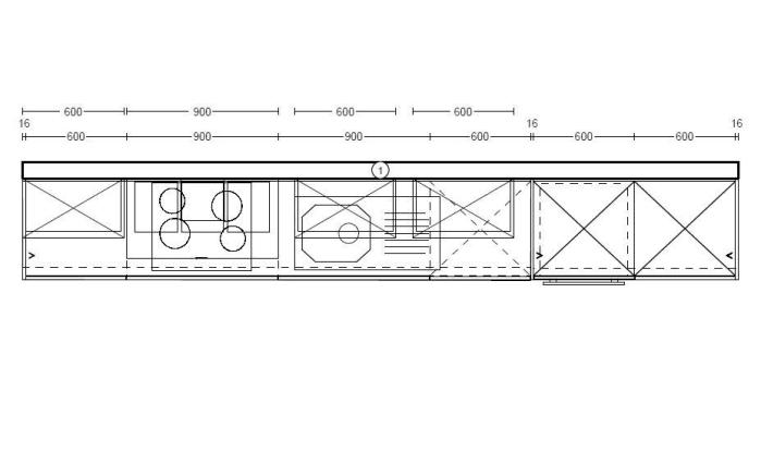 Einbauküche Uno in graphit, AEG-Geschirrspüler und Steinspüle