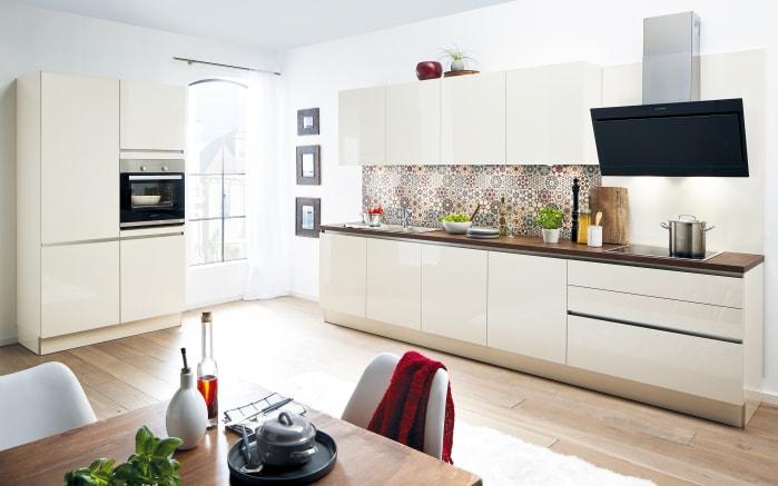 Einbauküche Laser Brillant in magnolie, Siemens-Geschirrspüler