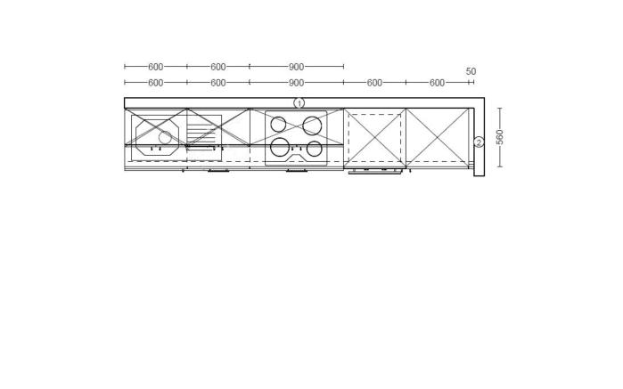 Einbauküche Laser Soft Max in graphit, H-Tech-Geschirrspüler