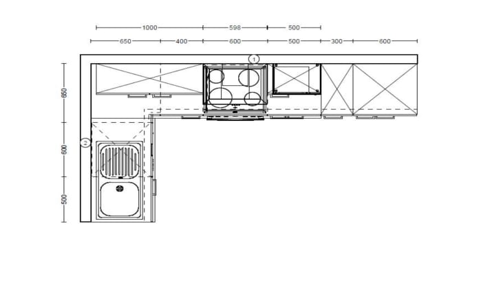 Einbauküche IP1200 in weiß, Geschirrspüler von AEG