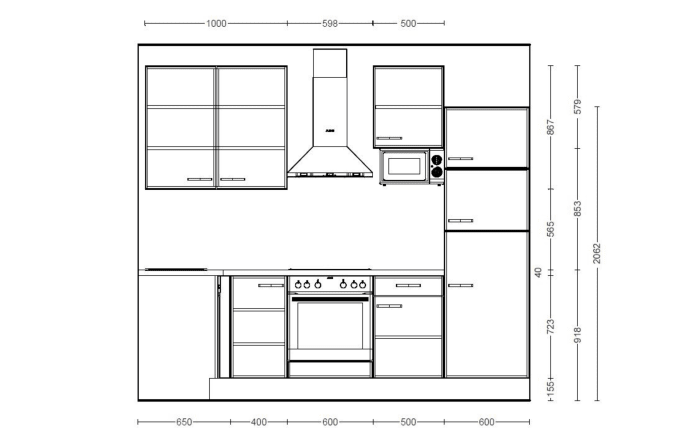 Einbauküche IP1200 in kieselgrau