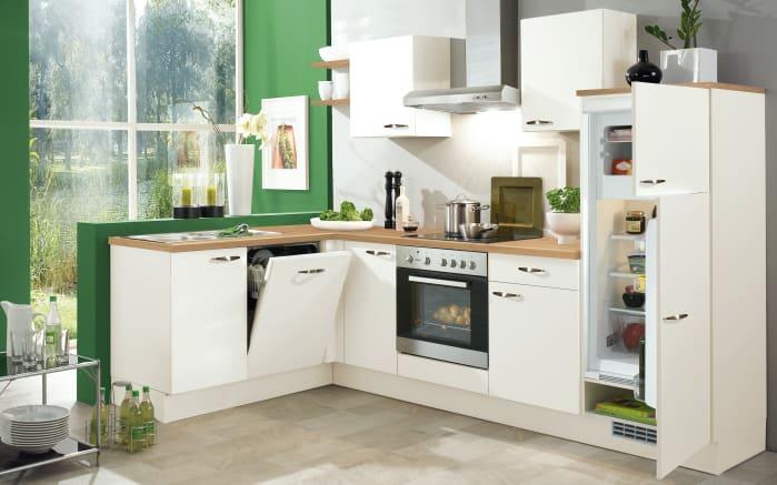 Einbauküche IP1200 in magnolienweiß, AEG-Geschirrspüler
