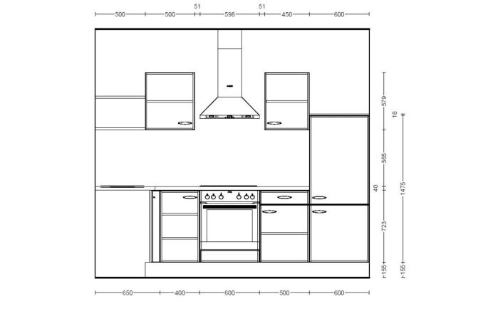 Einbauküche IP1200 in magnolienweiß, Neff-Geschirrspüler
