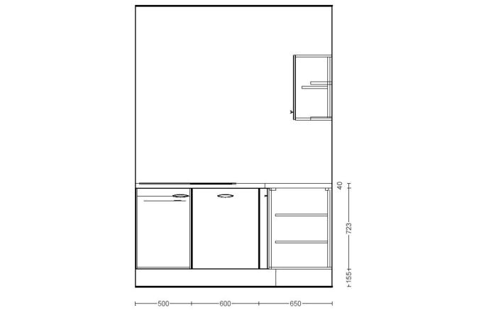 Einbauküche IP1200 in magnolienweiß, inklusive Privileg Elektrogeräte-06
