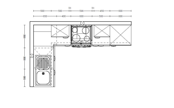 Einbauküche IP1200 in magnolienweiß, Ignis Geschirrspüler GKIE2B19