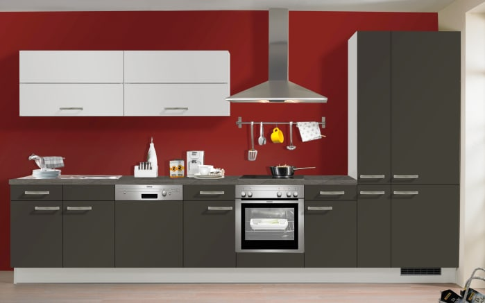 Einbauküche IP3150 in graphit kieselgrau matt, Neff-Geschirrspüler
