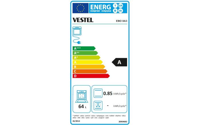 Einbauküche IP4000 in anthrazitgrau, Vestel-Geschirrspüler VES25306