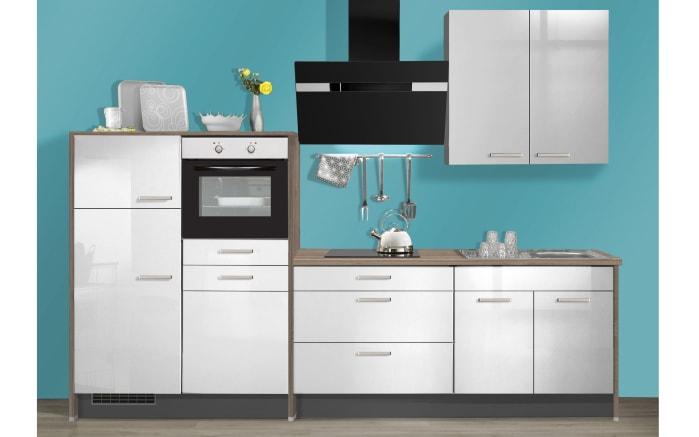 Marken-Einbauküche IP3050 in hellgrau Hochglanz, Miele Geschirrspüler