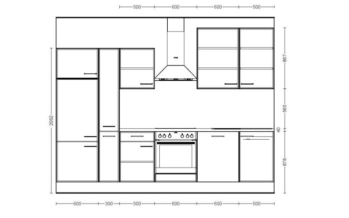 Einbauküche IP3500 in Felsgrau, Miele-Geschirrspüler G4380VIED