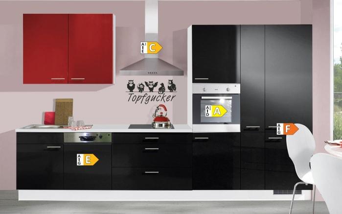 Einbauküche IP4050, schwarz Hochglanz, inklusive Elektrogeräte, inklusive AEG Geschirrspüler-04