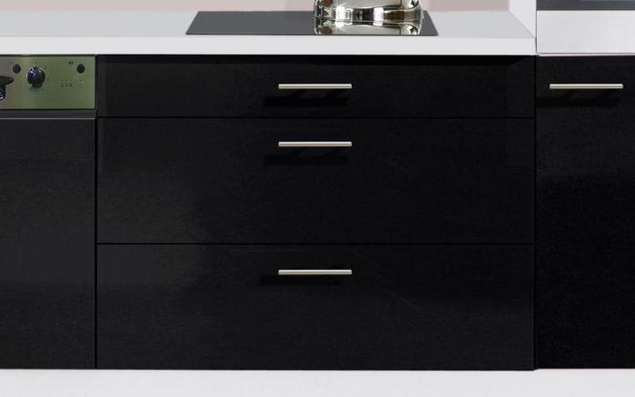 Einbauküche IP4050, schwarz Hochglanz, inklusive Elektrogeräte, inklusive AEG Geschirrspüler-03