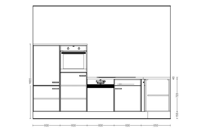Einbauküche IP 4050 in Hochglanz weiß