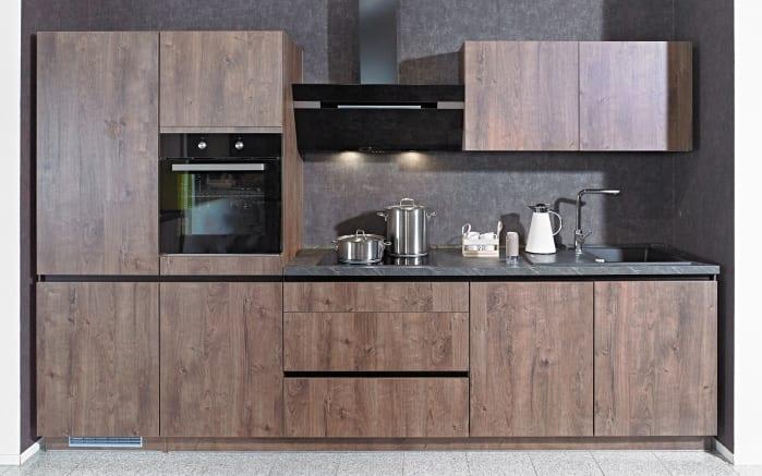 Einbauküche IP2200, Oregon Eiche-Nachbildung, inklusive Elektrogeräte-01